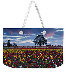 Tulip Field's Last Colors Weekender Tote Bag by Wes and Dotty Weber