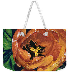 Weekender Tote Bag featuring the painting Tulip Swirl by Barbara Jewell