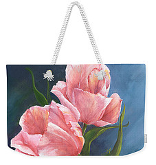 Weekender Tote Bag featuring the painting Tulip Waltz by Sherry Shipley