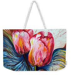 Tulips And Butterflies Weekender Tote Bag