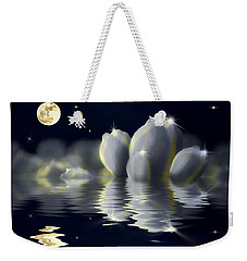 Tulips And Moon Reflection Weekender Tote Bag by Peter v Quenter