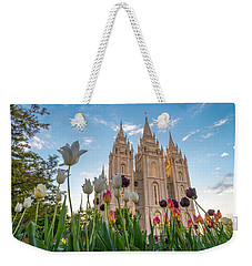 Tulips At The Temple Weekender Tote Bag