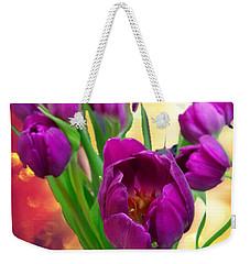 Tulips Weekender Tote Bag by Carlos Avila