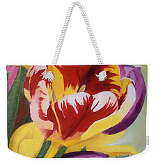 Tulips Weekender Tote Bag by Claudia Goodell