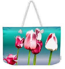 Weekender Tote Bag featuring the digital art Tulips by Daniel Janda