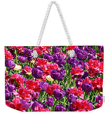 Tulips In A Meadow Weekender Tote Bag