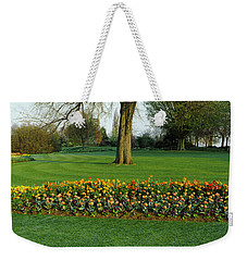 Tulips In Hyde Park, City Weekender Tote Bag by Panoramic Images
