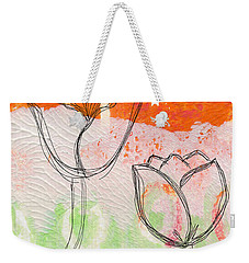 Tulips Weekender Tote Bag by Linda Woods