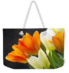 Weekender Tote Bag featuring the photograph Tulips by Marilyn Wilson