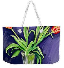 Tulips On The Table Weekender Tote Bag