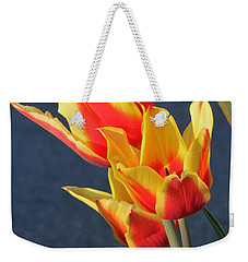 Weekender Tote Bag featuring the photograph Tulips by Todd Blanchard
