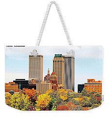 Tulsa Oklahoma In Autumn Weekender Tote Bag