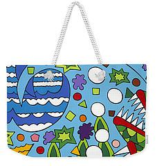 Tumbled Weekender Tote Bag by Rojax Art