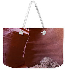 Weekender Tote Bag featuring the photograph Tumbleweed In The Canyon by Bryan Keil