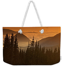 Weekender Tote Bag featuring the photograph Tumtum Peak At Sunset by Jeff Goulden