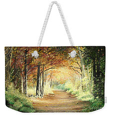 Tunnel In Wood Weekender Tote Bag