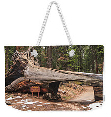 Tunnel Log Weekender Tote Bag