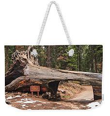 Tunnel Log Weekender Tote Bag