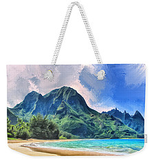 Tunnels Beach Kauai Weekender Tote Bag