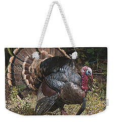Weekender Tote Bag featuring the painting Turkey In The Weeds by Joshua Martin