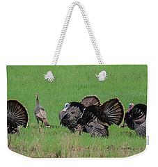 Turkey Mating Ritual Weekender Tote Bag by Cheryl Baxter
