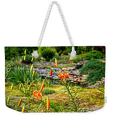 Weekender Tote Bag featuring the photograph Turk's Cap Lily by Kathryn Meyer