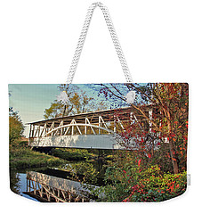 Weekender Tote Bag featuring the photograph Turner's Covered Bridge by Suzanne Stout