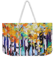 Turning Birches Weekender Tote Bag