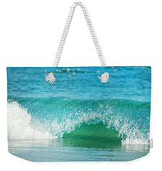 Weekender Tote Bag featuring the photograph Turquois Waves  by Cindy Greenstein