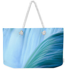 Turquoise Blue Waterfall Weekender Tote Bag