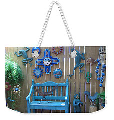 Weekender Tote Bag featuring the photograph Turquoise Corner by Dora Sofia Caputo Photographic Art and Design