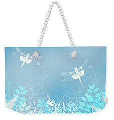 Turquoise Dragonfly Art Weekender Tote Bag
