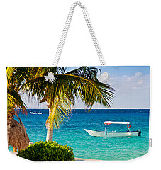 Weekender Tote Bag featuring the photograph Turquoise Waters In Cozumel by Mitchell R Grosky
