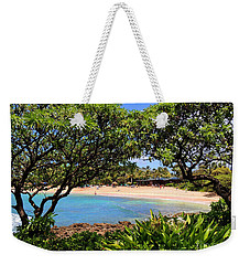 Weekender Tote Bag featuring the photograph Turtle Bay Beach by Kristine Merc