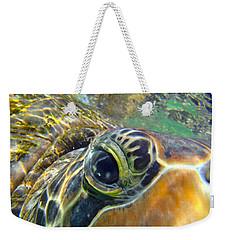 Turtle Eye Weekender Tote Bag by Carey Chen