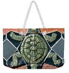 Turtle Mosaic Weekender Tote Bag by Carol Leigh