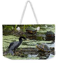 Turtles And Anhinga Weekender Tote Bag by Mark Newman