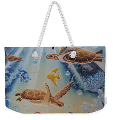 Turtles At Sea #2 Weekender Tote Bag by Dianna Lewis