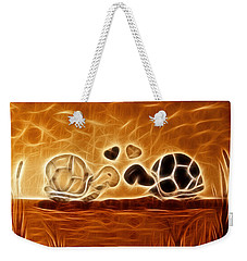 Turtles Love Fractalius Weekender Tote Bag
