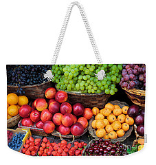 Tuscan Fruit Weekender Tote Bag by Inge Johnsson