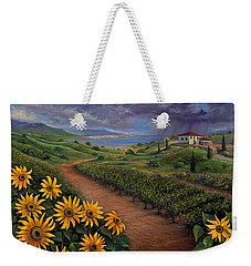 Tuscan Landscape Weekender Tote Bag by Claudia Goodell