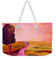 Weekender Tote Bag featuring the painting Tuscan Skies ... An Impressionist View by Eloise Schneider