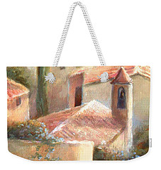Weekender Tote Bag featuring the painting Tuscan Village by Michael Rock