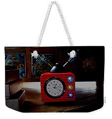 Tv Clock Weekender Tote Bag