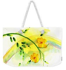 Weekender Tote Bag featuring the painting 'twas By Grace by Holly Carmichael