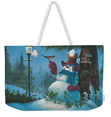 Weekender Tote Bag featuring the painting Tweet Dreams by Michael Humphries