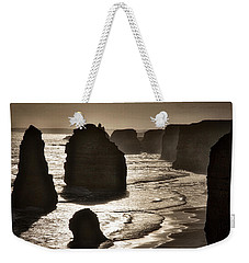 Twelve Apostles #3 - Black And White Weekender Tote Bag