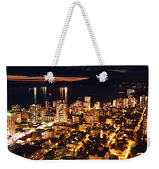 Weekender Tote Bag featuring the photograph Twilight English Bay Vancouver Mdlxvii by Amyn Nasser