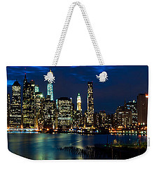 Twilight Nyc Panorama Weekender Tote Bag