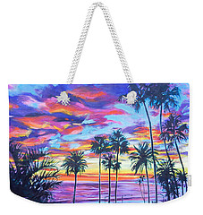 Twilight Palms Weekender Tote Bag by Bonnie Lambert